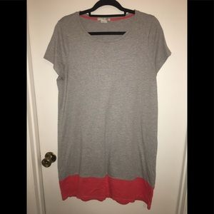 Comfy Grey and Coral Night Gown